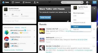 Cara Memasang Widget Twitter pada Blog - setting