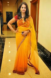 Actress Nanditha Raj Picture Gallery in Saree at Ram Leela Movie Audio Launch  26.JPG