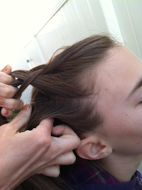 how to make a french braid look thicker