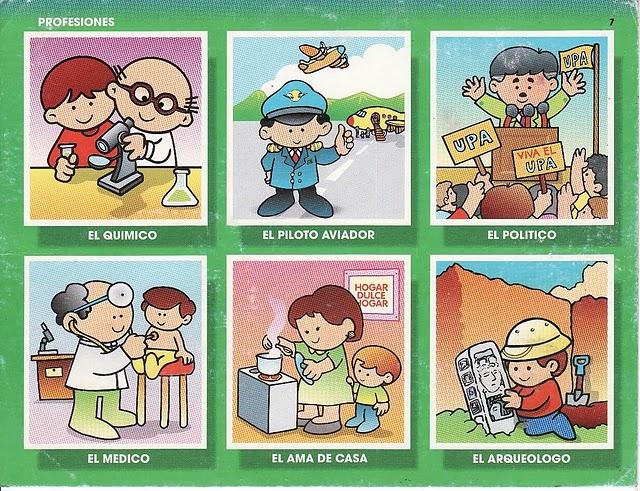 Dibujos infantiles de las profesiones - Marcos para laminas grandes ...