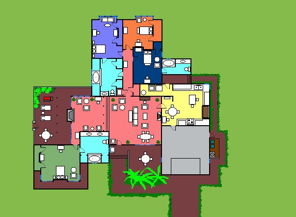 Real house layouts