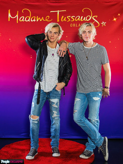 Ross Lynch Poses With Wax Figure