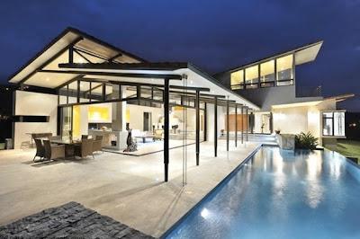 model rumah tropis gaya barat design rumah minimalis