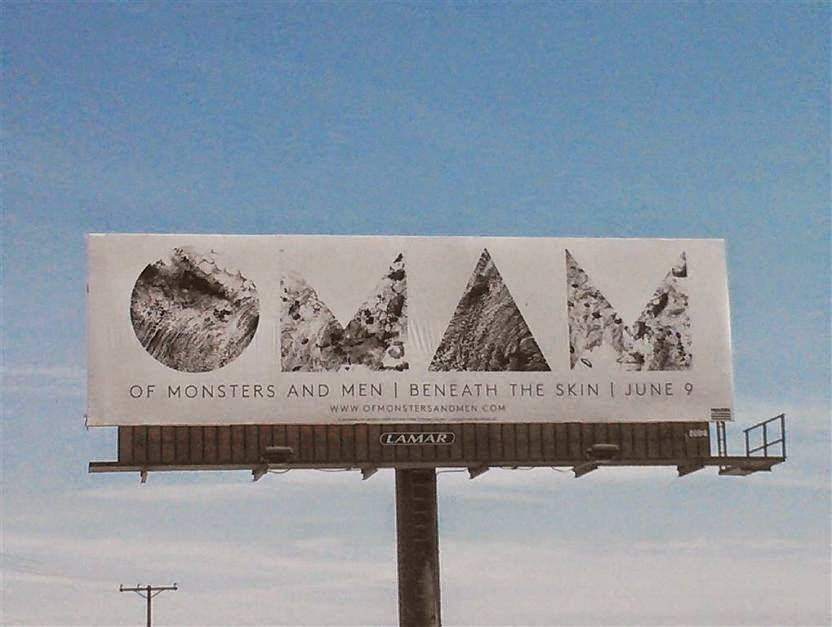 of monsters and men beneath the skin 9 june cartel billboard