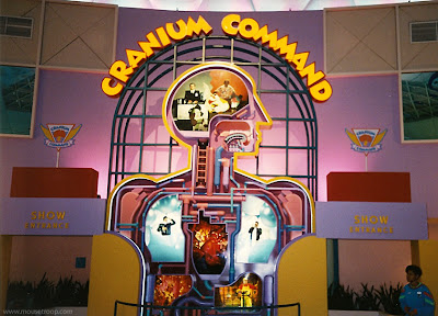 Cranium Command entry mural Epcot 1993 Wonders of Life