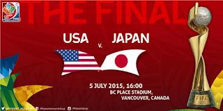 Jadwal AS vs Jepang Final Piala Dunia Wanita 2015