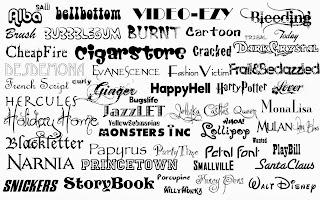 kumpulan font desain