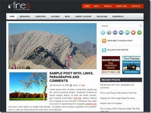 Fines WordPress theme