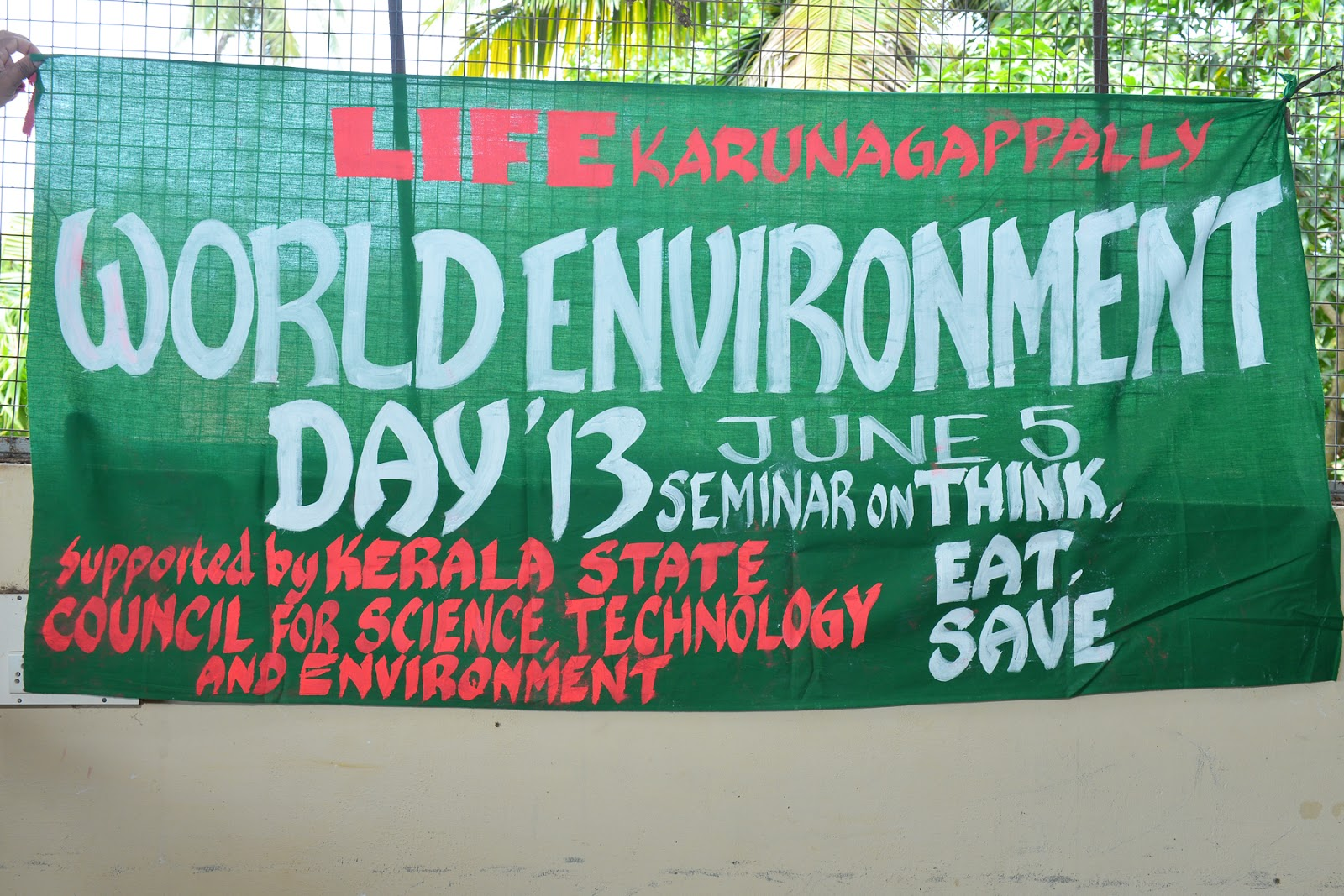 life karunagappally world environment day observation by life essay poster writing competiton of u p students in u p g s