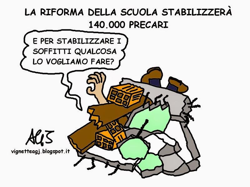 scuola, riforme, precari, satira, vignetta