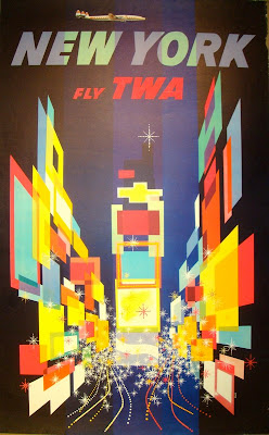 Vintage 1950s New York travel poster by David Klein