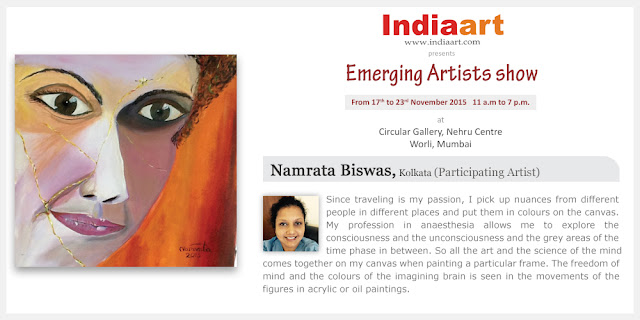 Artist Statement by Namrata Biswas - Emerging Artists show by Indiaart.com