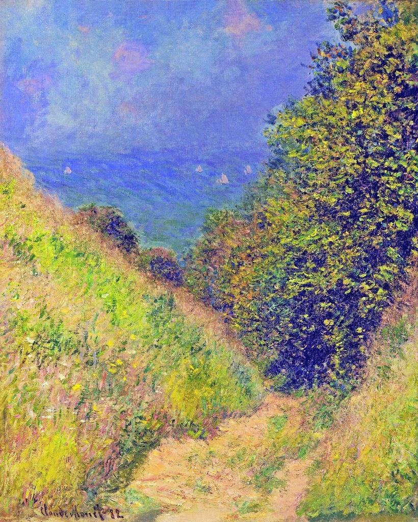 Le Chemin de La Cavée à Pourville (1882)