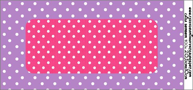 Imprimibles de lunares blancos en fondo rosa y lila 6. | Ideas y ...
