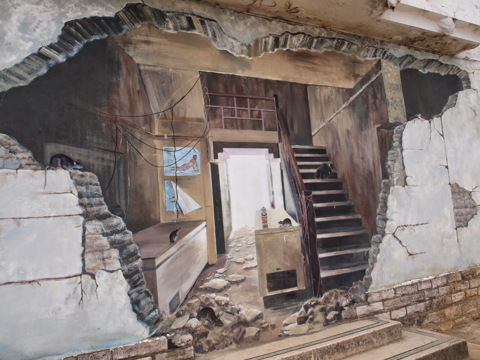 Graffiti on wall in swanage dorset
