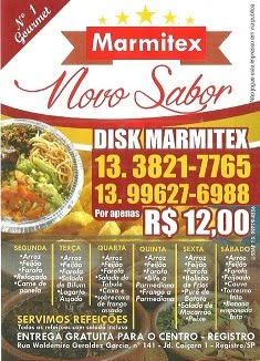 Marmitex Novo Sabor