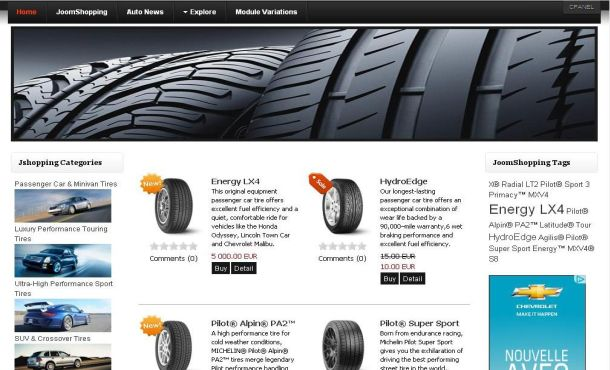 Free Auto Cars Shopping Joomla Theme Template