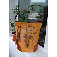 Сумки из кожи с ручной росписью. - handmade блоги