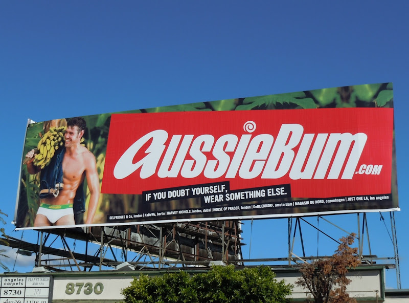 AussieBum banana male underwear billboard