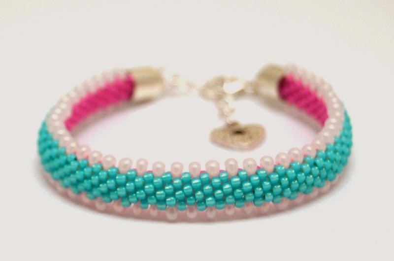 bransoletka koralikowa szydełkowa bead crochet bracelet 17