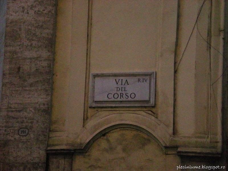Via del Corso pentru cumparaturi