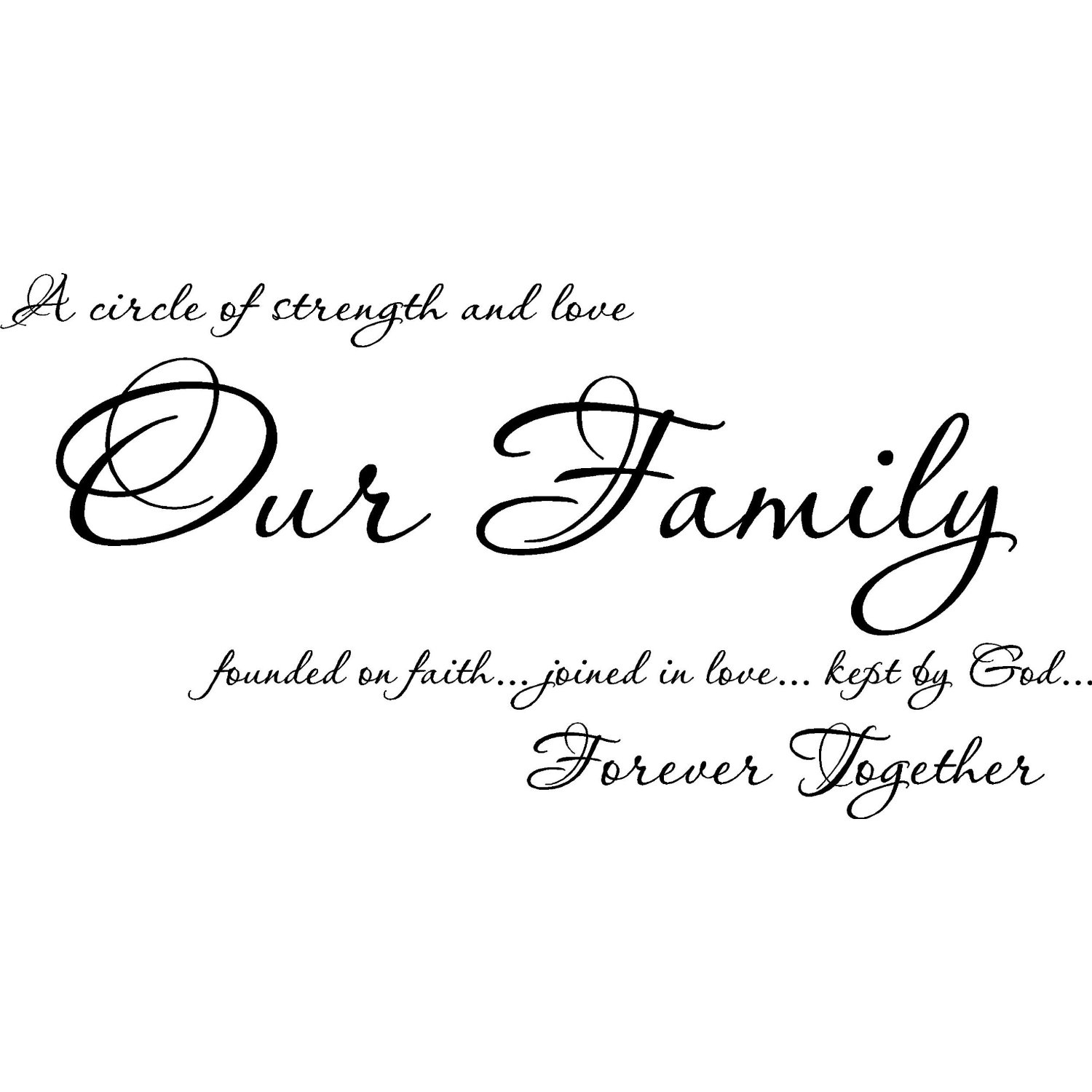 family and my love for my family now and forever