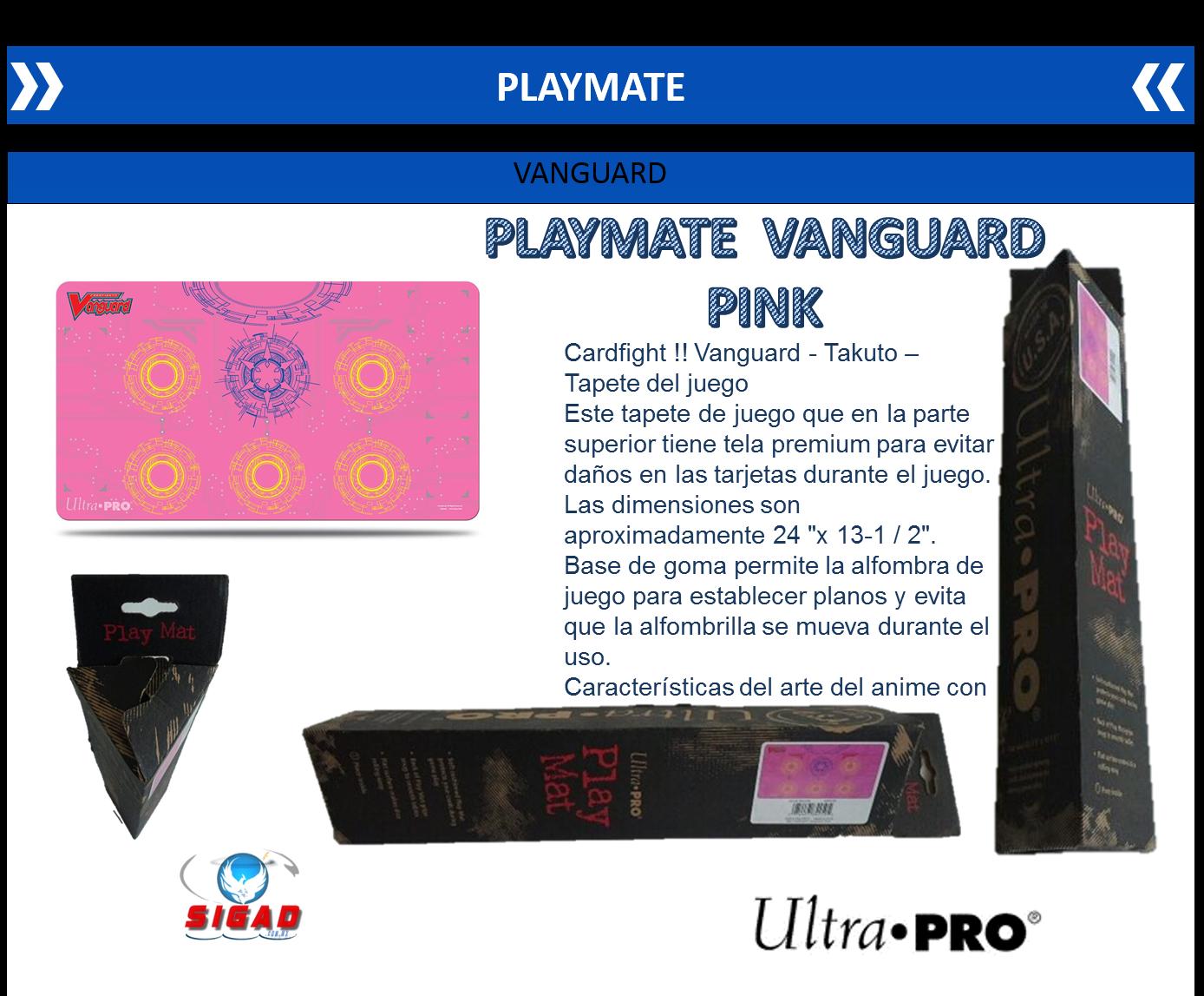 Playmat De Vanguard Pink Tapete Rosa Con Figuras Playmat