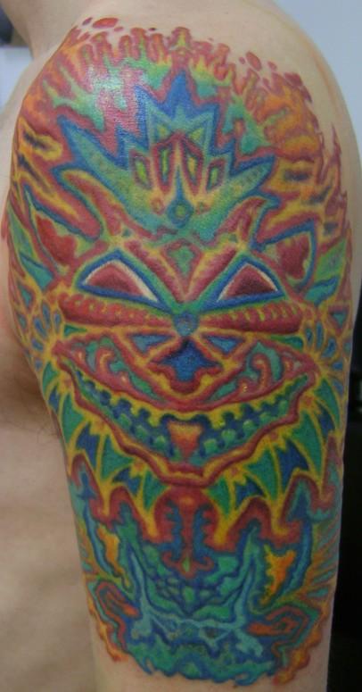 50 trippy psychedelic tattoos. Black Bedroom Furniture Sets. Home Design Ideas