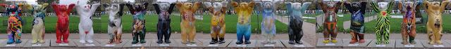 Buddy bears at the Champ de Mars Paris