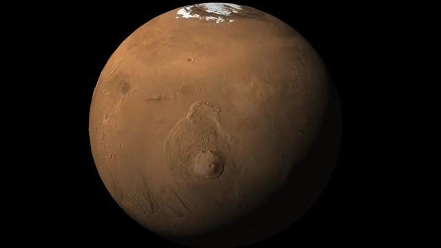 Вулкан Олимп на поверхности Марса