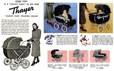 "Thayer ""vanity fair"" folding coach."
