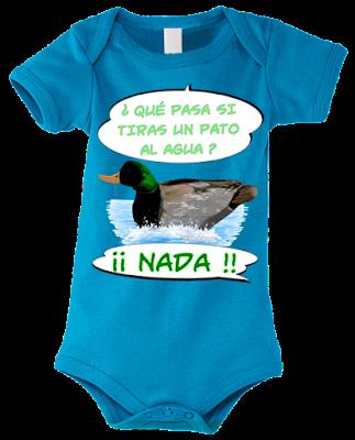 "Body para bebés ""Pato nadando"" color azul"