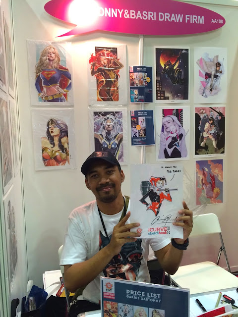 Singapore Toy, Game & Comic Convention STGCC 2015 artist alley iwan nazif