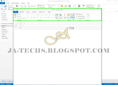 Auto Add Signature in MS Outlook Emails - Step 2