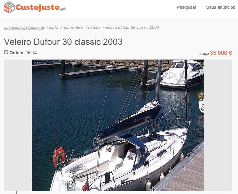 Dufour 30 classic 2003 à venda!
