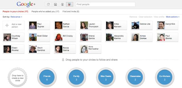 Screenshot: Google+ Circles
