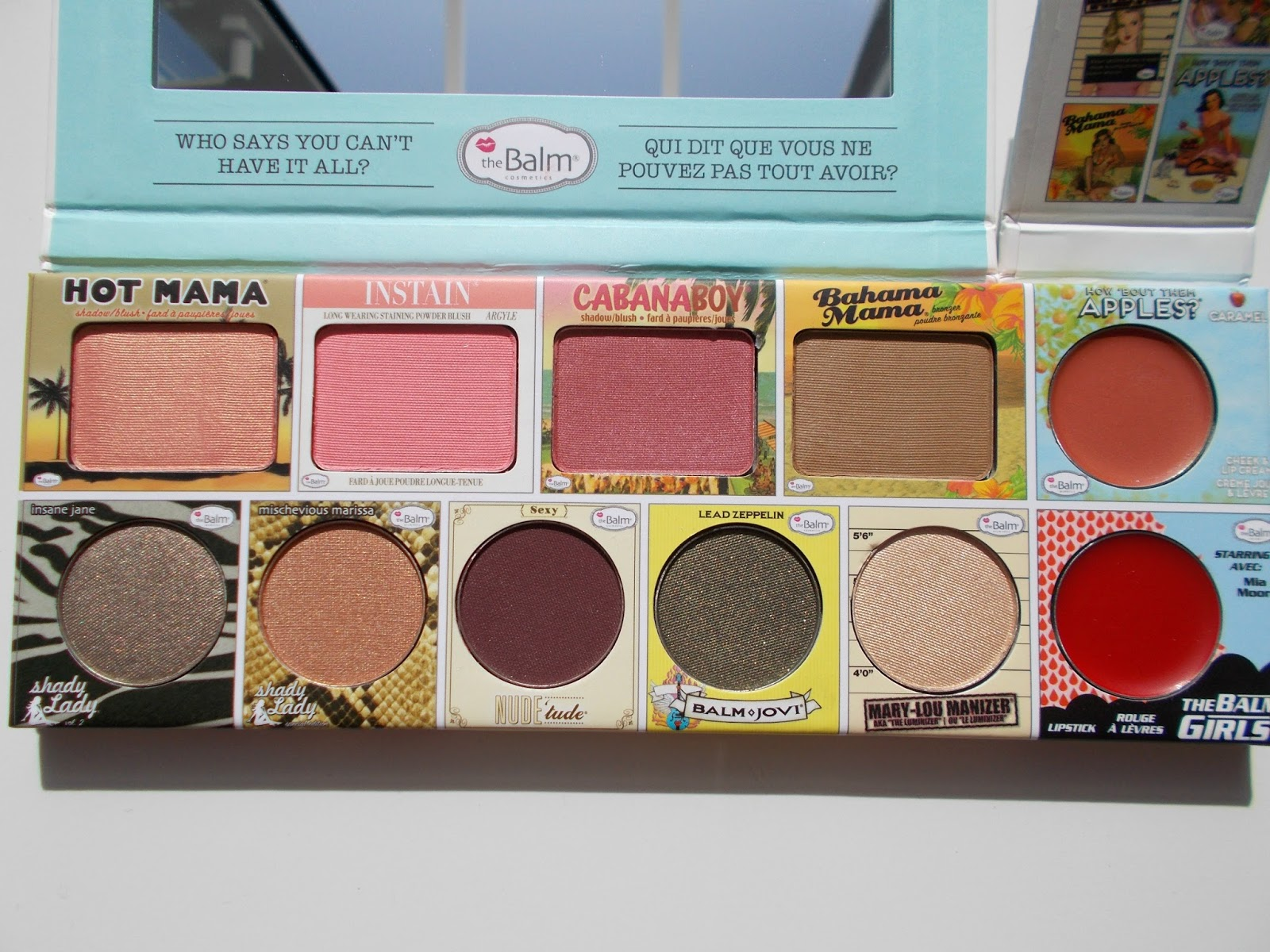 The Balm In the Balm of your Hand palette close up