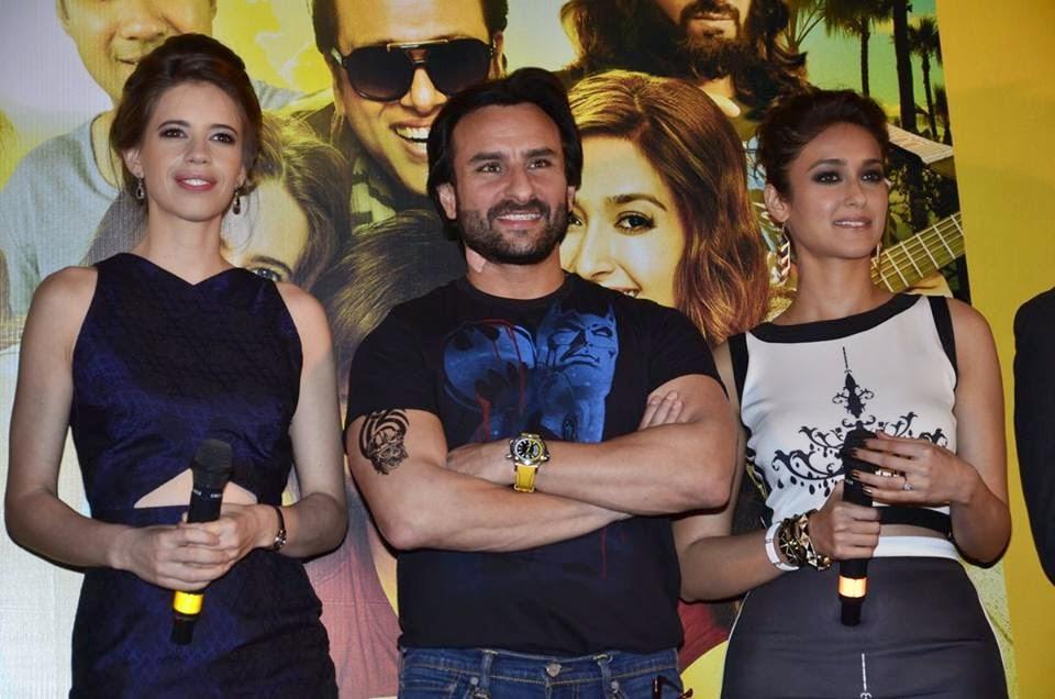 Saif Ali Khan, Kalki, Ileana D'cruz at 'Happy Ending' Trailer Launch