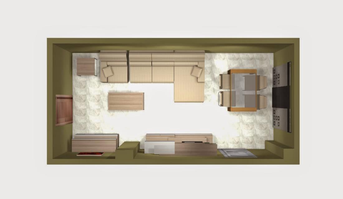 Mueble salon comedor moderno pequeño modular, blanco