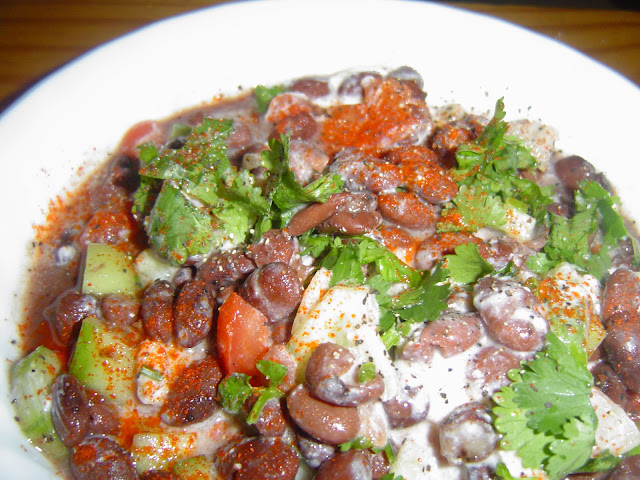 IN a large bowl add kidney beans, saltand pepper stir then add chopped ...