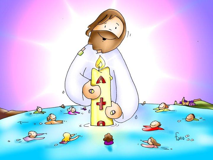 Dibujo de Jesús crucificado en la cruz para colorear