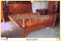 Tempat tidur ukiran Jepara kayu jati Bagong Blok
