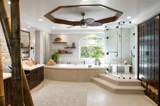 Bathroom Plan With Touch Of Bamboo Goodness