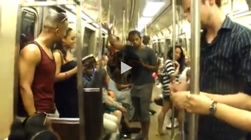 Lion King Broadway Cast Sings 'Circle Of Life' on New York subway