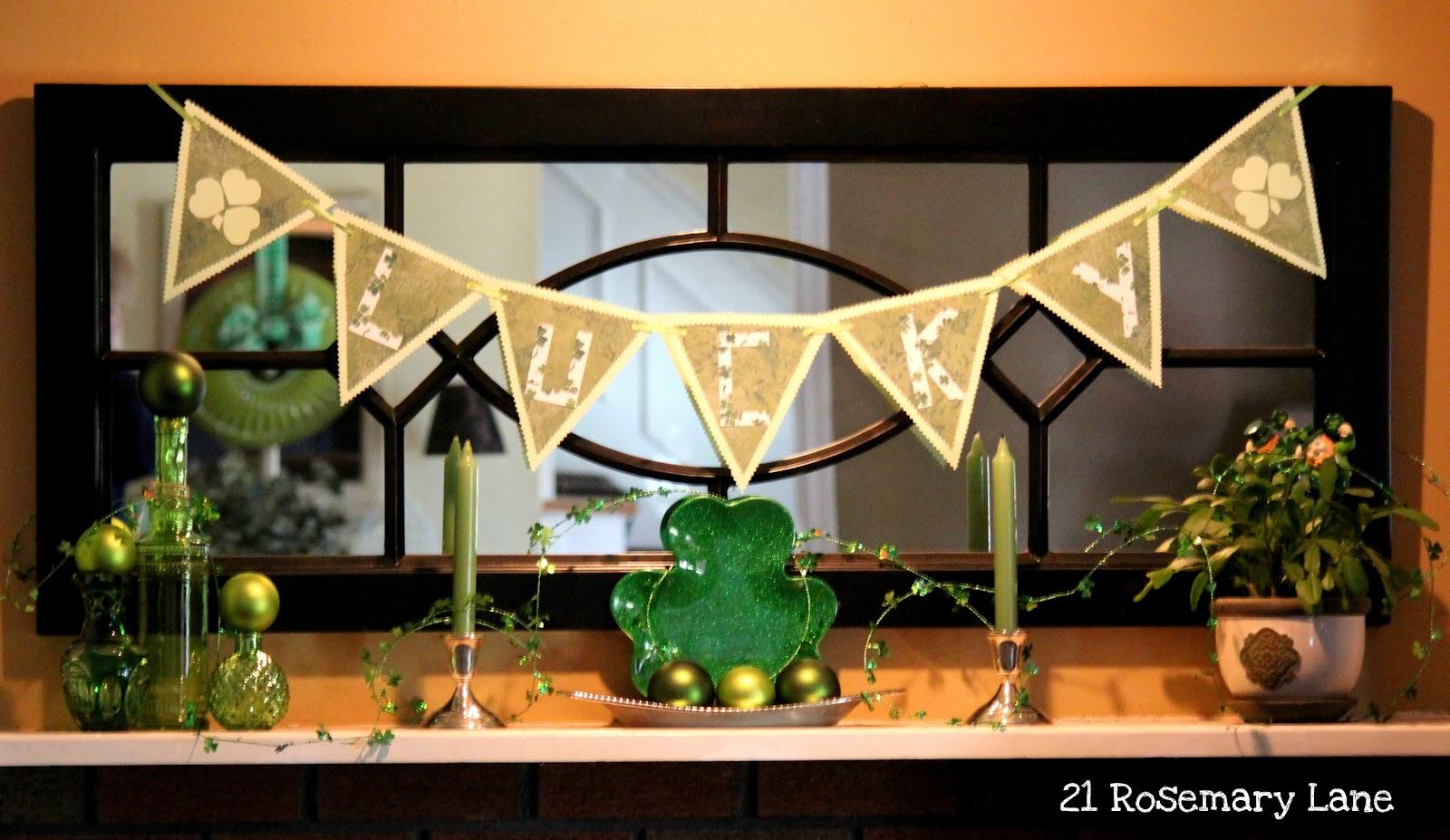 21 Rosemary Lane Irish Inspired Mantel Display