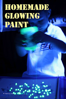 Homemade Glowing Paint