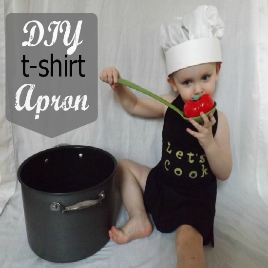 DIY Kids T-shirt Apron by Jessica of The Thriftiness Miss