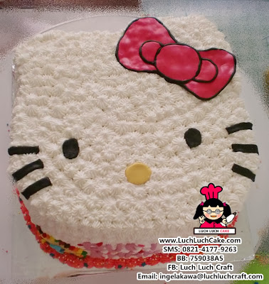 Kue Tart Kepala Hello Kitty Daerah Surabaya - Sidoarjo