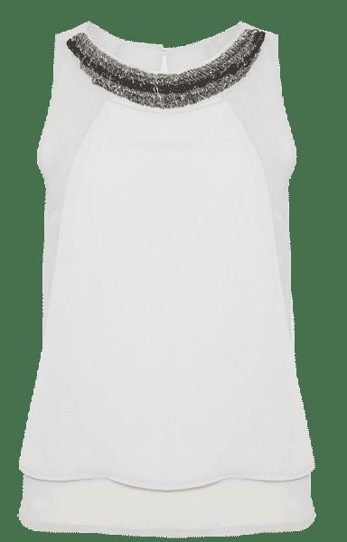 Top sin mangas con cuello de pedrería de la colección de Primark