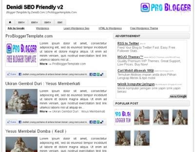 Denidi SEO Friendly v2 Blogger Template